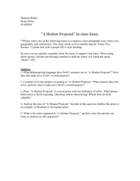 questions for a modest proposal