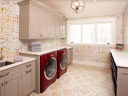 traditional laundry room with undermount sink u0026 pendant light