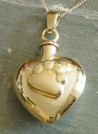pet urn necklace gold paw print heart pet urn necklace memorial urns