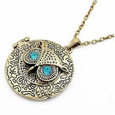vintage owl necklace jewelry images Owl necklaces clipart jpg
