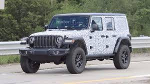 2018 jeep wrangler rubicon 2018 jeep wrangler rubicon spied with virtually no camo