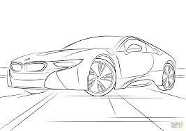 bmw i8 coloring page free printable coloring pages