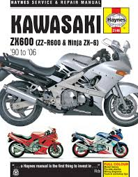 haynes m2146 repair manual for 1990 04 kawasaki zx600 zz r600