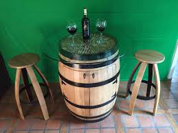 Barrel Bistro Table Wine Barrel Bistro Table Cabinet