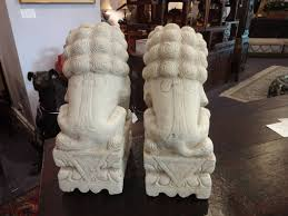 marble foo dogs pair of marble foo dogs at 1stdibs