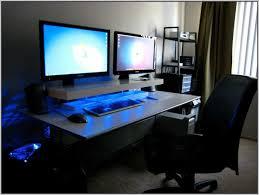 Dual Monitor Computer Desks Dual Monitor Stand Up Desk Desk Home Design Ideas V46b7gannr74284