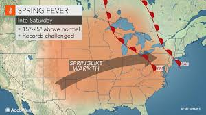 Jet Stream Forecast Map Extended Period Of Springlike Warmth To Surge Into Midwestern