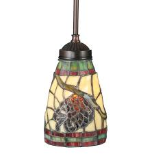 Stained Glass Pendant Light Stained Glass Pinecone Pendant Light