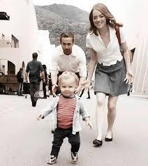 ryan gosling emma stone couple film la la land bts with ryan gosling emma stone and little arthur