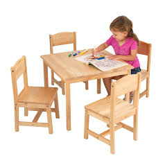 Ikea Kids Table by Kidkraft Farmhouse Table U0026 4 Chair Set Espresso Walmart Com