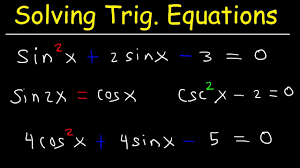 solving trigonometric equations by factoring by using double angle identities