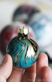 painted ornaments pour acrylic paint into clear bulbs and shake