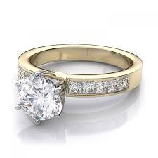 amazon com 4 75 carats yellow gold 3 8mm 75 carat classic princess cut diamond
