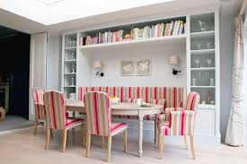 dining room with banquette seating banquette seating ideas dining room scandinavian with red striped