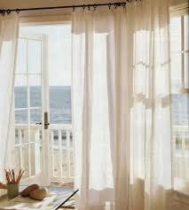 Sheer Patio Door Curtains Calming Cream Beach Doors And Window
