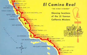 State Map Of California by A Trail Map Of Some Of The Amazing Spanish Missions Across