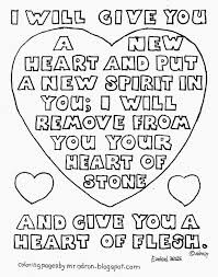 coloring pages for kids by mr adron i will give you a new heart