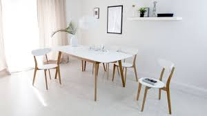 kitchen aver oak and white extending dining table modern white