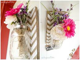 How To Design Flowers In A Vase Chevron Pallet Mounted Hanging Mason Jar Vase Unoriginal Mom