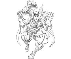 coloring marvelous thor coloring sheet pages 1 thor