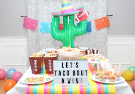 superbowl party ideas taco superbowl party chinet