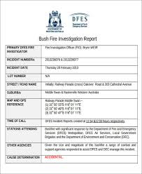 Incident Investigation Report Template by 43 Incident Report Sles