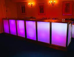 illuminated led furniture available to hire