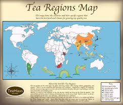 The Best Map Of The World by A Simple Yet Informative Map Of The World U0027s Tea Growing Regions