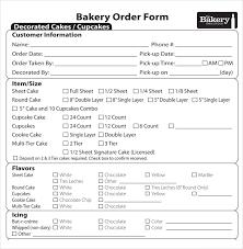 Cake Order Bakery Order Template U2013 12 Free Excel Pdf Documents Download
