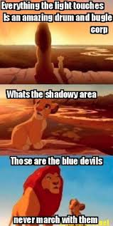 Drum Corps Memes - meme maker everything the light touches is an amazing drum and