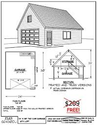 garage floor plans free 2 car attic roof garage with shop plans 864 5 by behm design