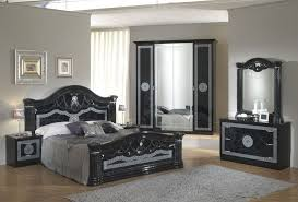 Black Italian High Gloss Bedroom Furniture Set Homegenies - White high gloss bedroom furniture set