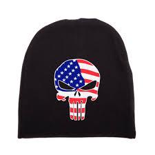 American Flag Skull American Flag Punisher Skull Infant Baby 100 Cotton Knit Beanie