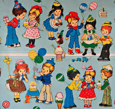 retro wrapping paper vintage retro wrapping paper 70s for kids birthday 1500 1433