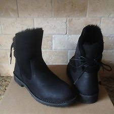 womens ugg leather ankle boots ugg naiyah chestnut leather corset back ankle boots womens us 9 ebay