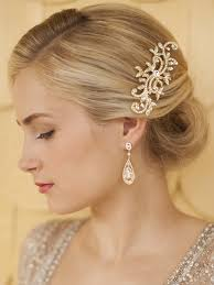 prom hair accessories popular gold wedding or prom hair comb with pave vines