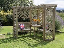 Backyard Corner Landscaping Ideas by Hutton Avon Corner Arbour Hutton Arbours And Arches Svw Back