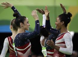 raisman and 4 usa teammates send teary coach out with another