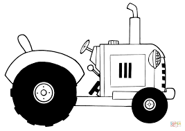 vintage farm tractor coloring free printable coloring pages