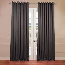 anthracite grey grommet extra wide blackout curtains