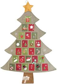 amazon com hanging fabric christmas advent calendar countdown to