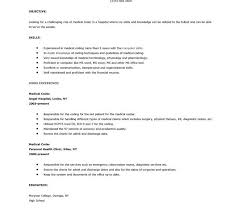 Medical Billing And Coding Resume Sample by Medical Coder Resume Samples 5 Medical Coder Resume No Experience