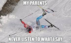 Ski Meme - xc ski crash latest memes imgflip