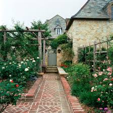 beautiful brick garden paths content in a cottage