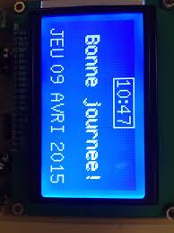 module graphique spi et horloge i2c