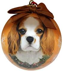king charles cavalier ornament santa s pals with