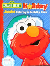 amazon sesame street holiday elmo coloring activity book
