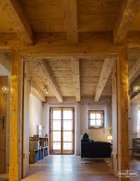 Wohnzimmer Ideen Landhaus Retrotimber Altholz Balken Hausbau Bau Fichte Lärche