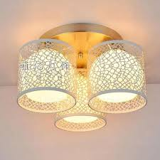 3 Bulb Flush Mount Ceiling Light Fixture Flush Mount Ceiling Lights 3 Light White Hardware Shade