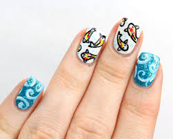 packapunchpolish koi fish nail art with video tutorial